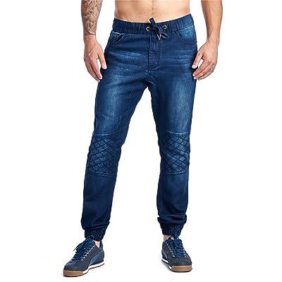 A Jeans Men's Denim Pant Jogger Styling Slim Fit 42116C Elastic Waistband Casual Pants Trousers