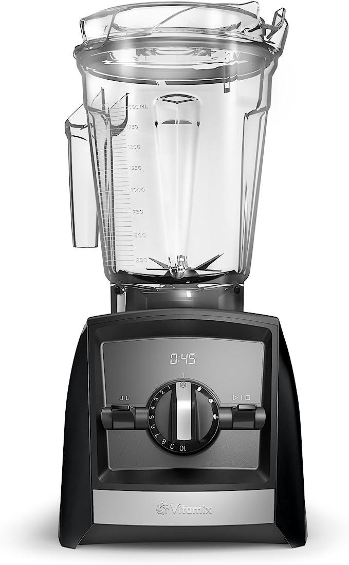 Vitamix A2500 Ascent Series Smart Blender, Professional-Grade, 64 oz. Low-Profile Container, Black