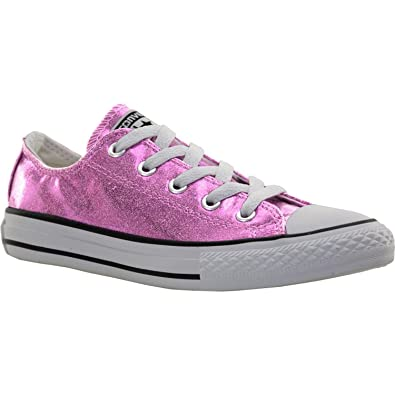 a822bcdc67fd18 Converse CTAS OX All Star Pink Glitter Tie Trainers Girls Shoes 650817C (3  UK)