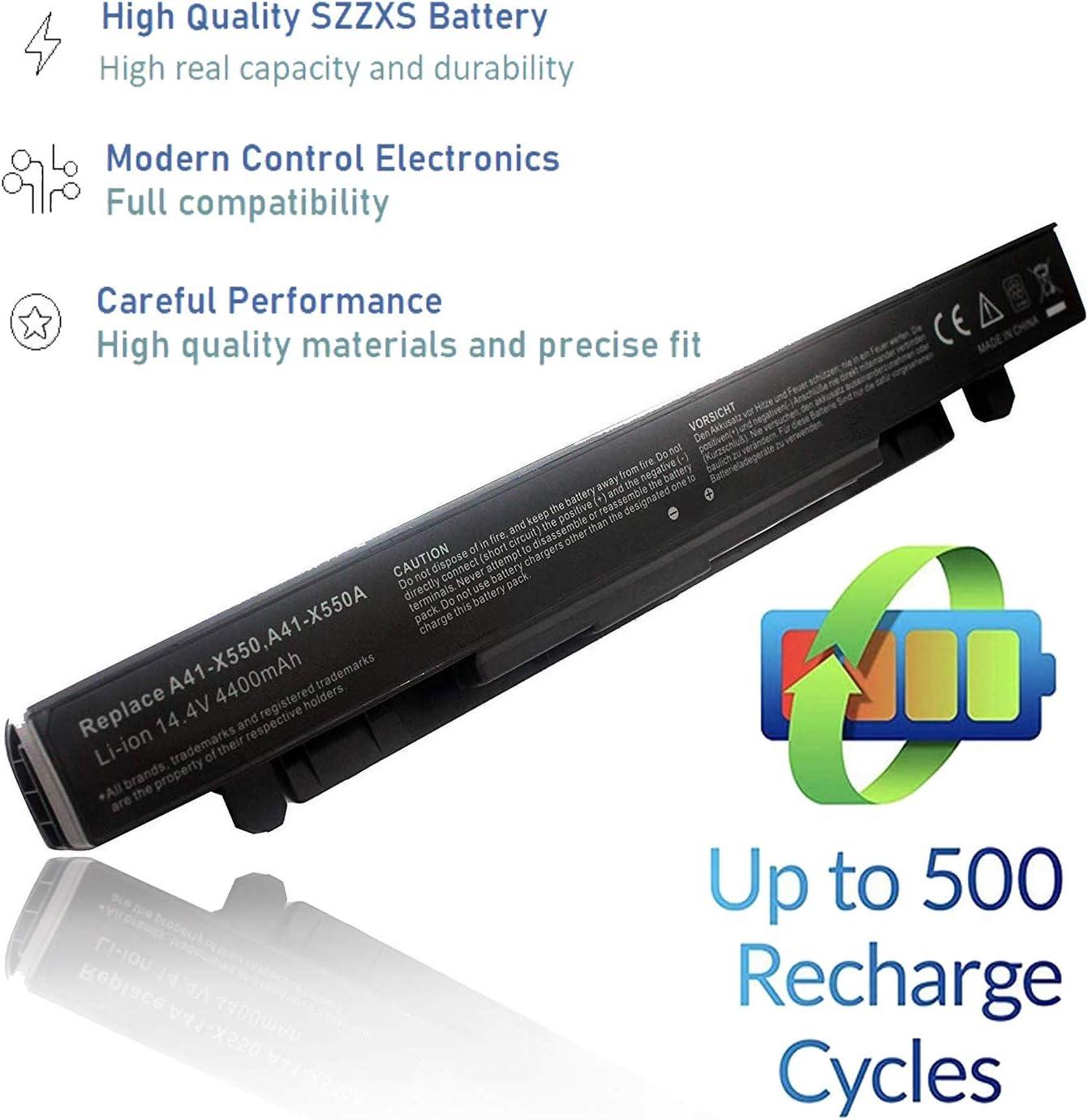 Reemplace la batería A41-X550 A41-X550A para ASUS A450 A550 F450 F550 F552 K450 K550 P450 P550 R409 R510 X450 X452 X550 Batería para computadora portátil [14.4V 4400mAh Clase energética A +++]: Amazon.es: