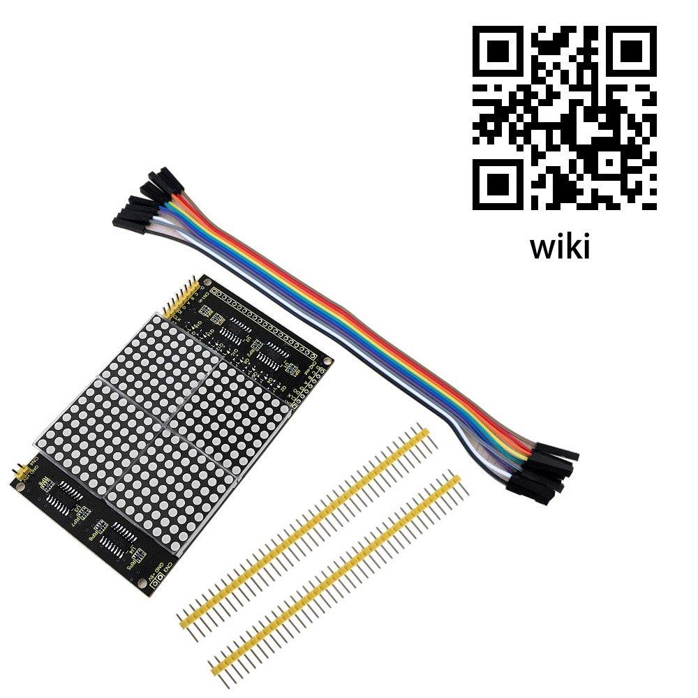 keyestudio Módulo Matriz LED 16 x 16 cm Dot Matrix LED Módulo Matriz LED Rojo para Raspberry Pi y Arduino Starter Kit 74HC595: Amazon.es: Industria, ...