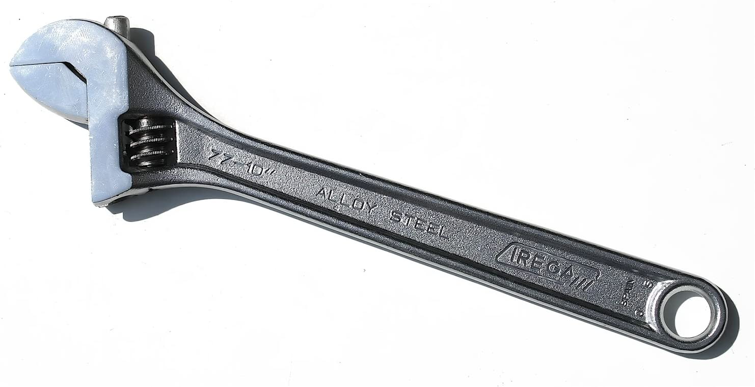 Triple-Chrome Finish Irega 18 Adjustable Wrench 77-18