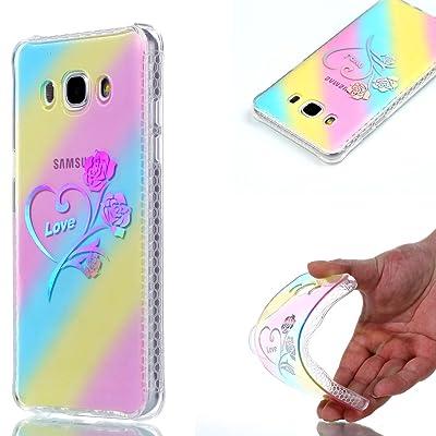 Ecoway TPU Funda Funda para Samsung Galaxy J5 (2016) SM-J510F, Patrón de recubrimiento de color Carcasa Antideslizante Suave Parachoques Resistente a los arañazos Contraportada Funda de silicona Parachoques Carc