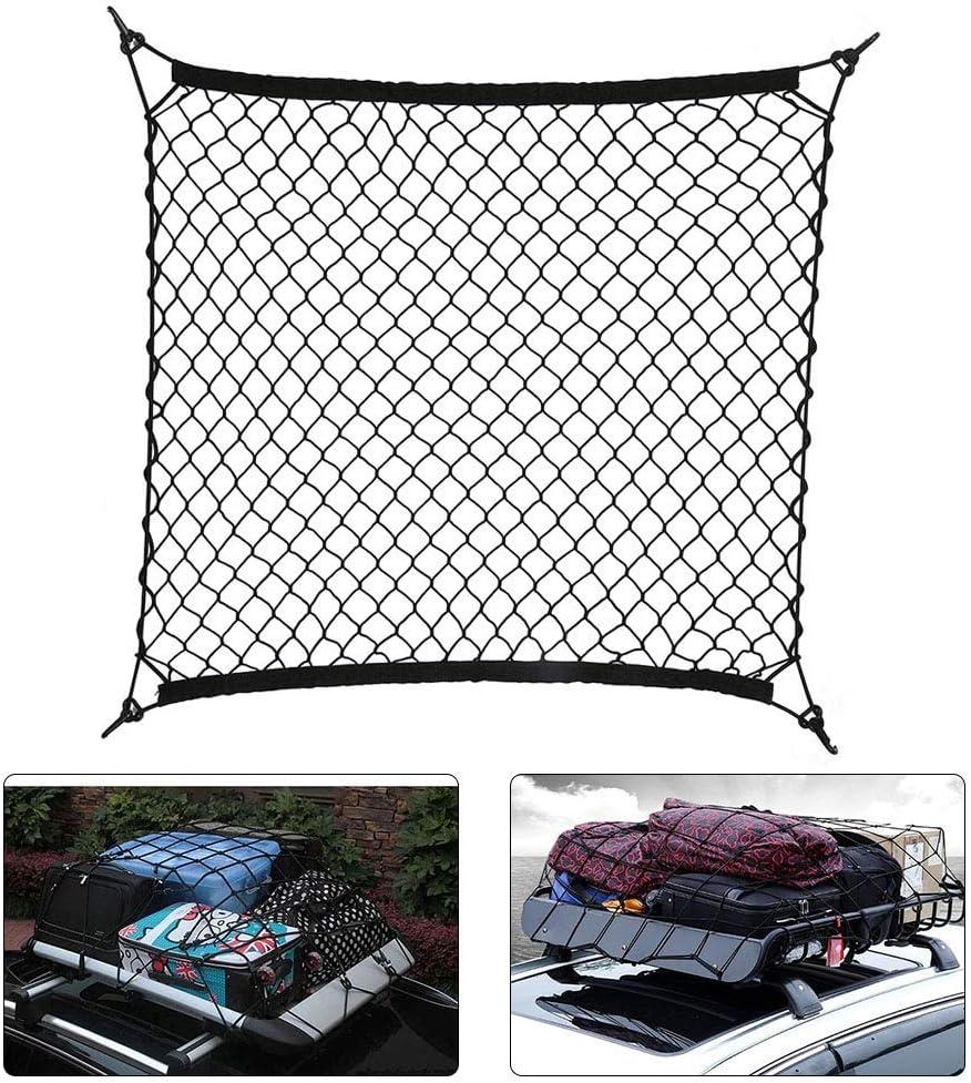 KYJ Cargo Net Auto Tetto Rete Rete di Trasporto Cintura Gancio Elastico Net 70/cm x 70/cm