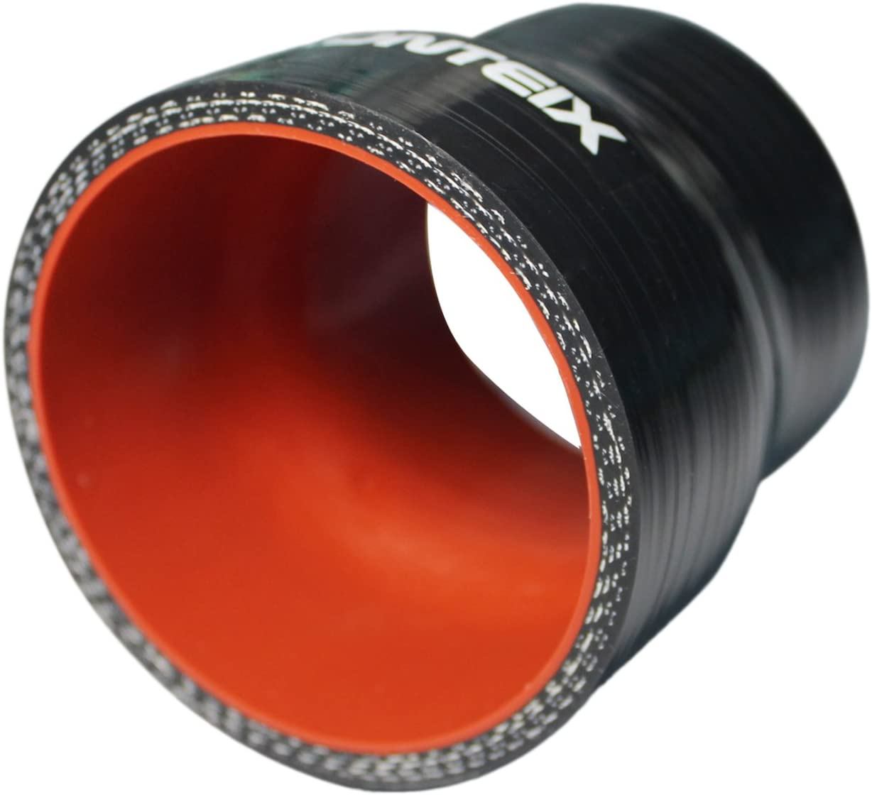 102MM to 76MM, BLACK Ronteix Universal ID 4 to 3 Silicone Reducer Coupler Radiator Hose