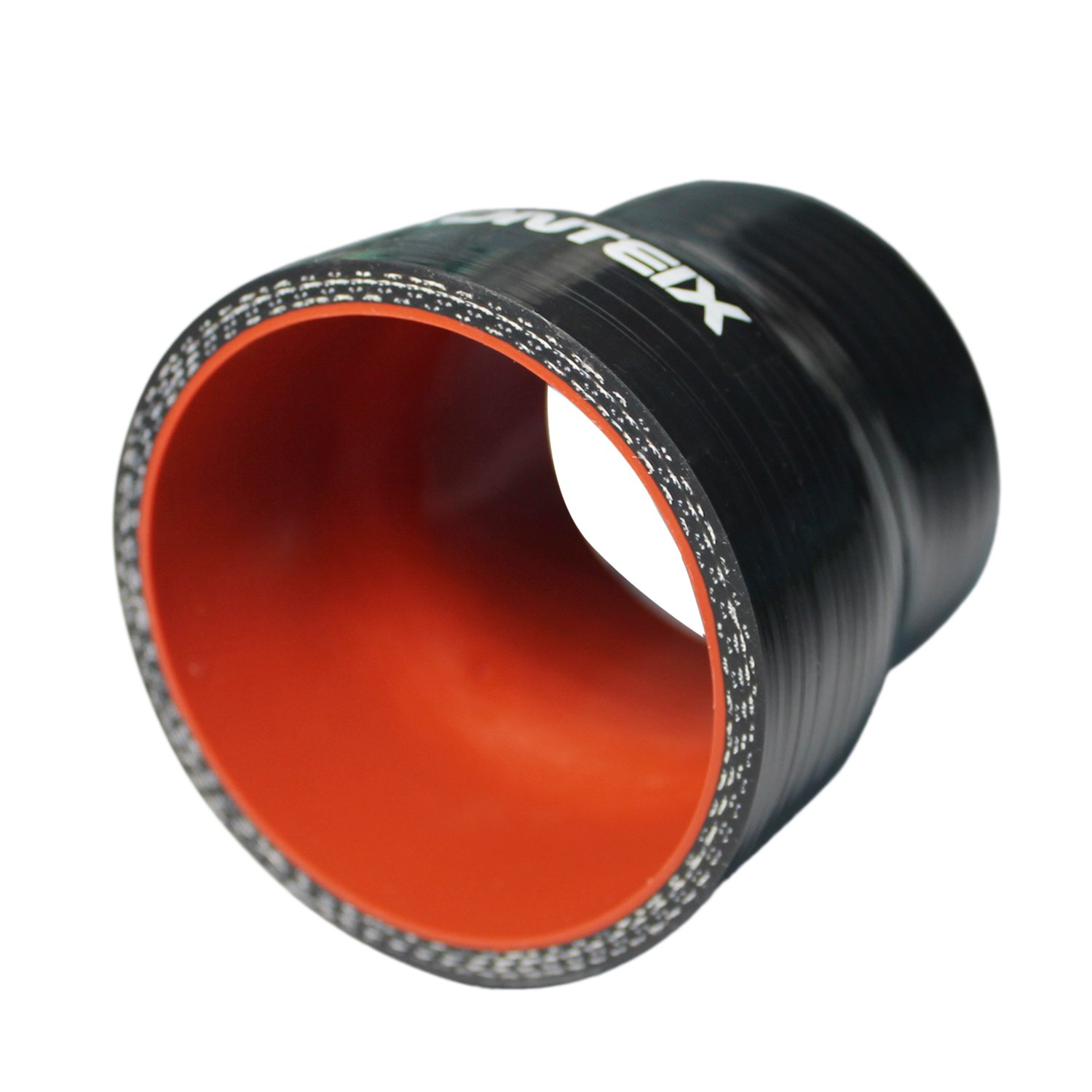 Ronteix Universal ID 2.5 to 2 Silicone Reducer Coupler Radiator Hose 63MM to 51MM, BLACK