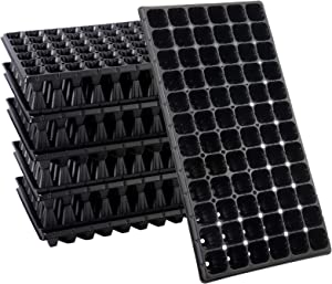 10 Pack Thickened 72 Cells Seedling Trays- BPA Free Plastic Gardening Germination Trays with Drain Holes Reusable Plant Grow Plug Trays Mini Propagator for Seeds Growing Plant Seedlings Propagation