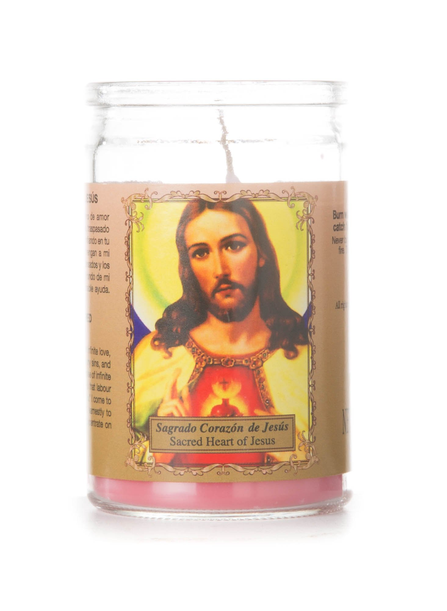 Small Sacred Heart of Jesus Prayer Candle, Red