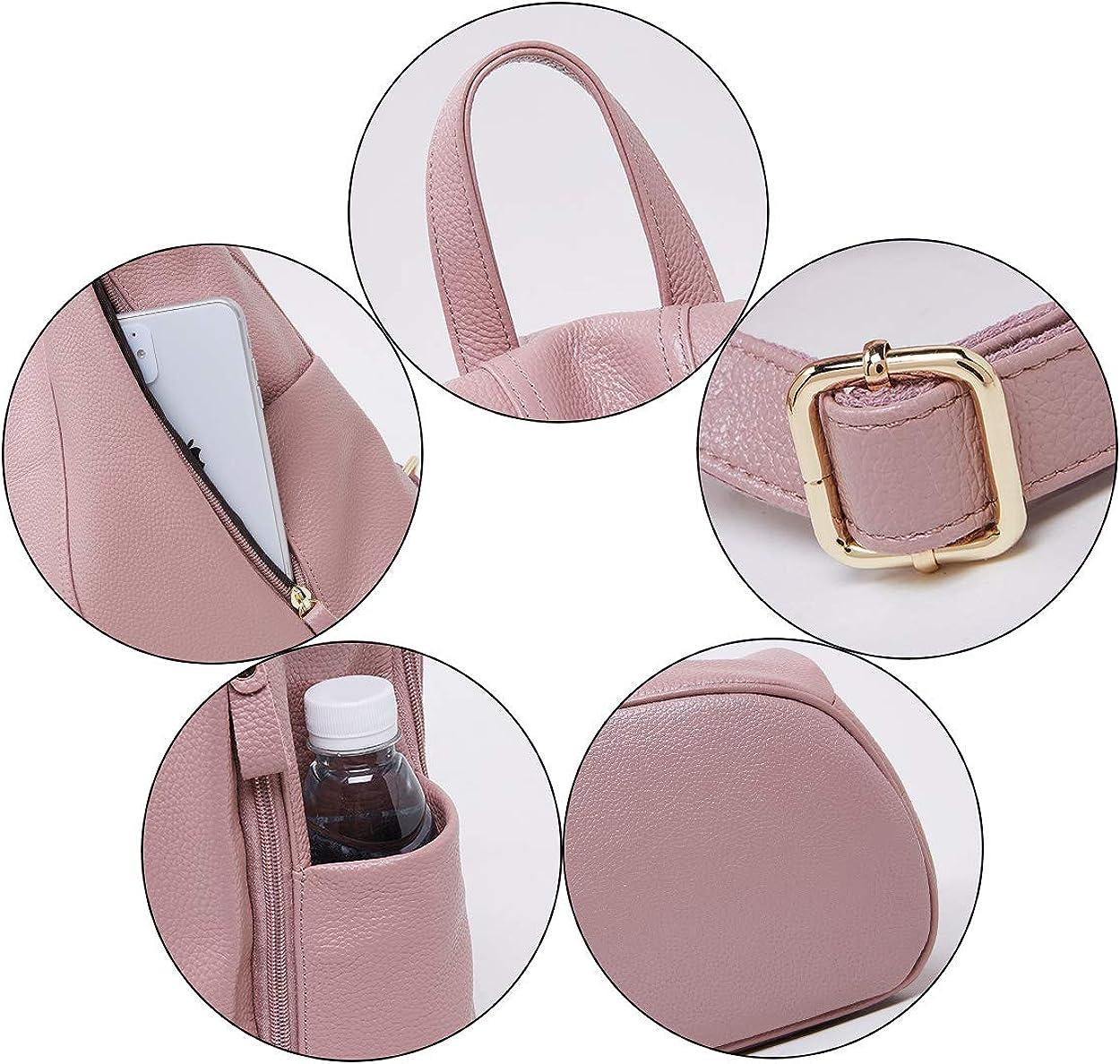 BOYATU Genuine Leather Backpack for Women Anti-theft Rucksack Ladies Travel Bag Back Open