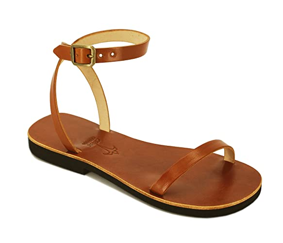 a813b8bb4c Leather Sandals Women, Strappy Sandals, Flat Leather Sandals, Ankle Strap  Sandals, Wedding Sandals - LIBERTY: Amazon.co.uk: Handmade