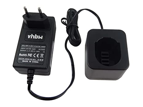 vhbw 220V cargador, fuente de alimentación para batería de herramienta Black & Decker A9252, A9266, A9275, PS130, PS130A
