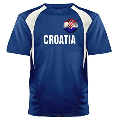 b1a84fb43 Custom Croatia Soccer Ball 1 Jersey Adult Small in Royal Blue and White