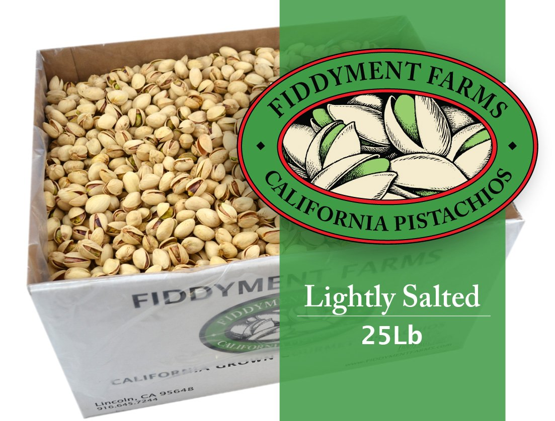 25 Lbs Salted In-shell Pistachios by Fiddyment Farms Gourmet Pistachios