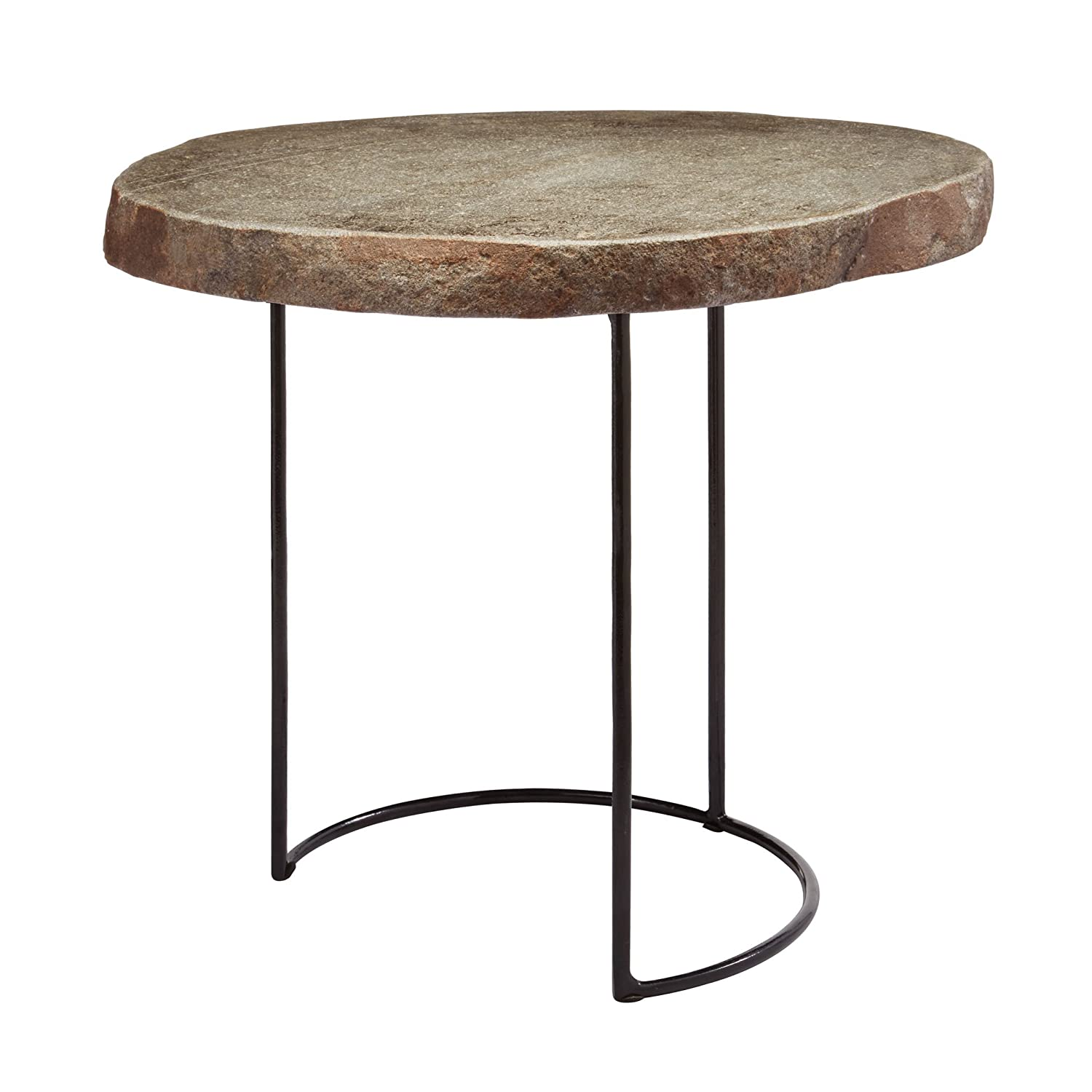 """Dimond Home 159-010 Short Stone Slab and Wire Frame Table, 17"""" x 14"""" x 16"""", Natural"""