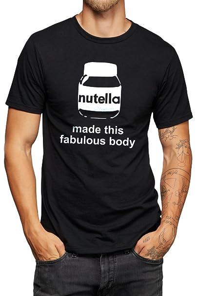 This Nutella Made Maglietta Con Fabulous Tema Scritta Body 9IE2WDHY