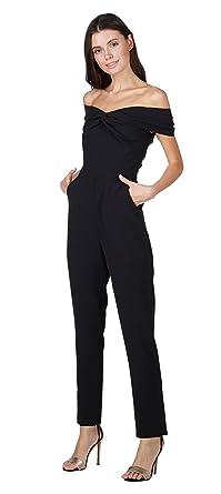 a99fcc373e12 Amazon.com  Adelyn Rae Karlie Off-The-Shoulder Jumpsuit  Clothing
