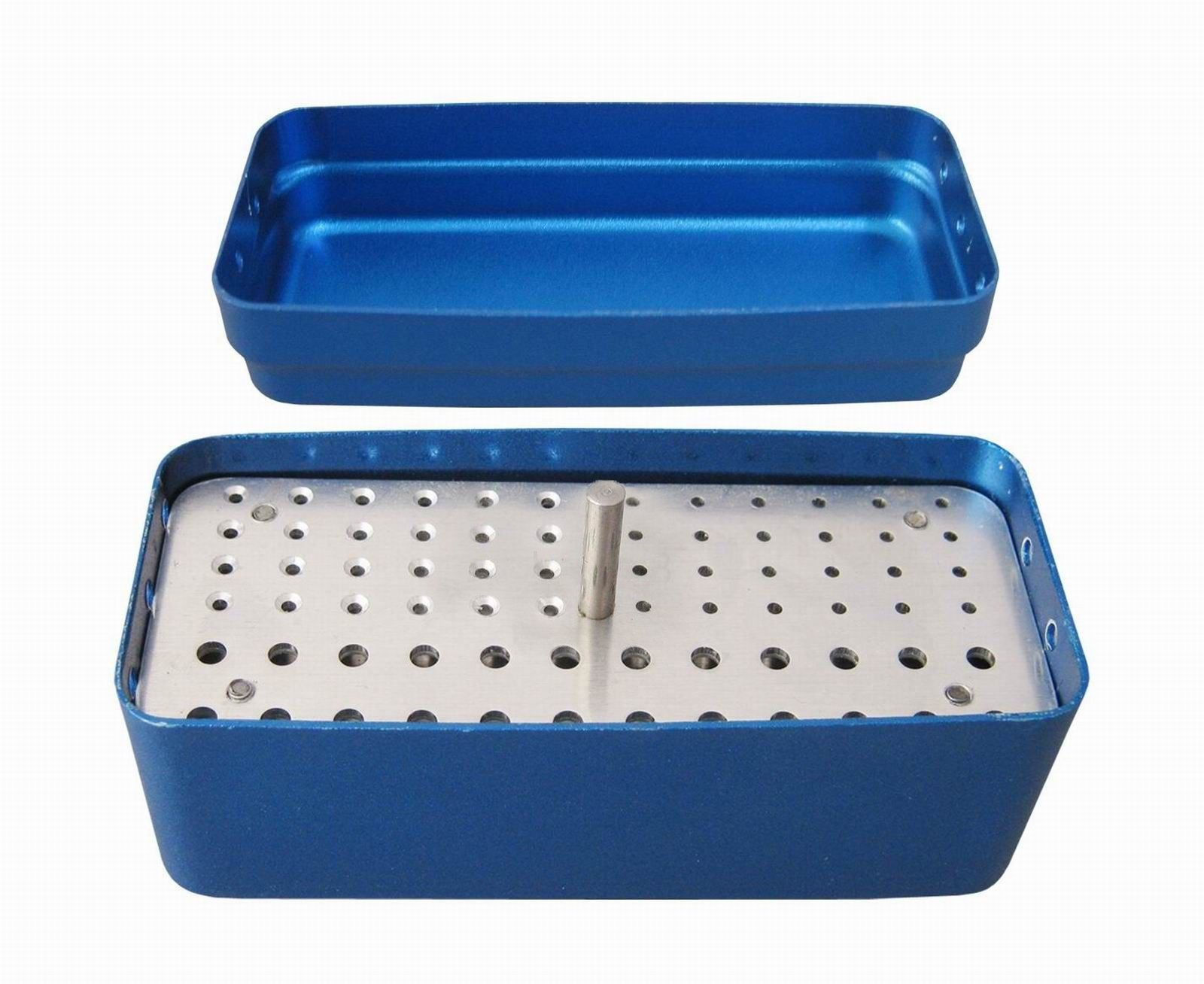 Aphrodite 72 Holes Bur Holder Sterilizer Case Disinfection Box 3 Used Blue Dual core