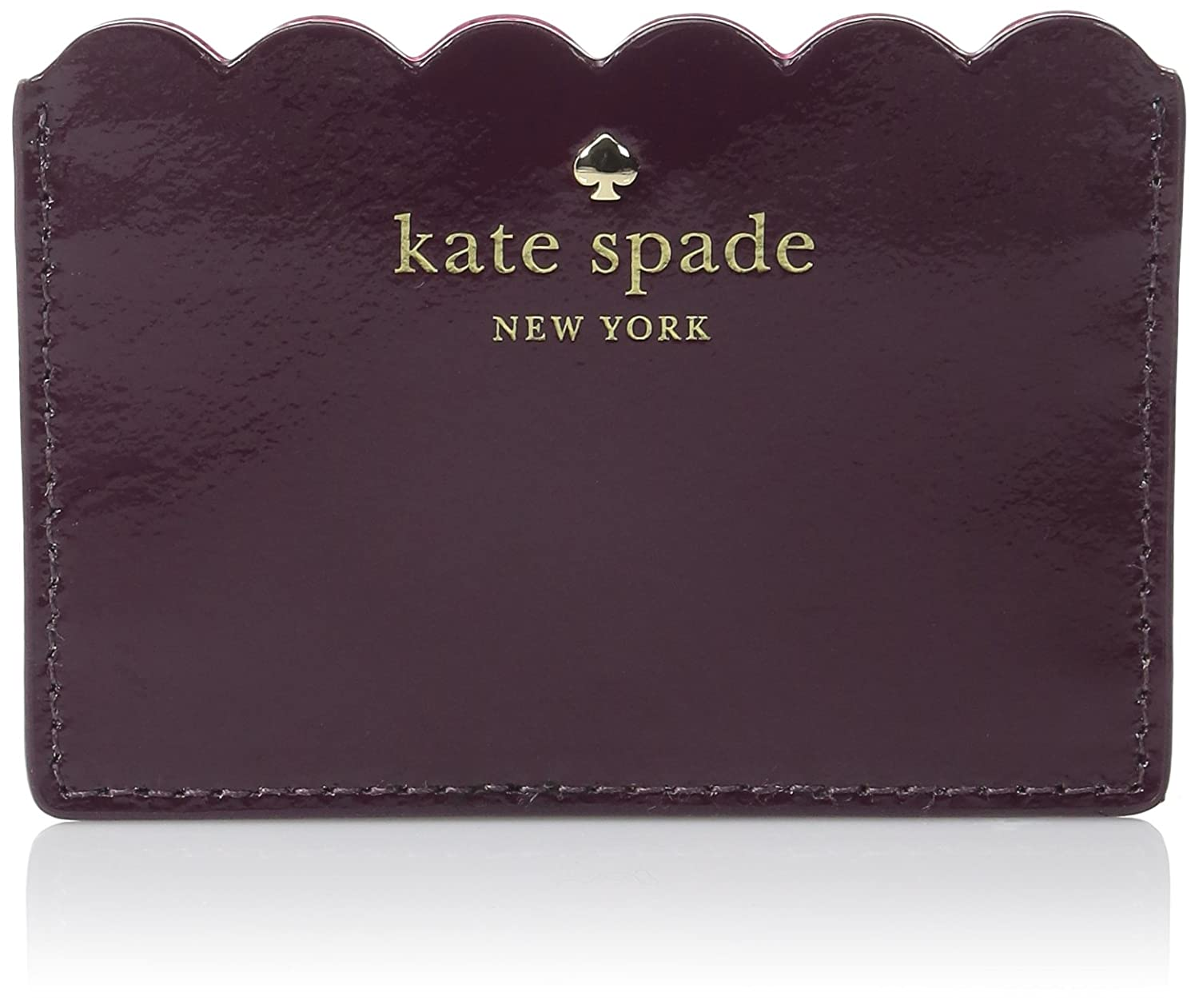 kate spade new york Lily Avenue Patent Credit Card Holder Mahogany/Radish PWRU5164