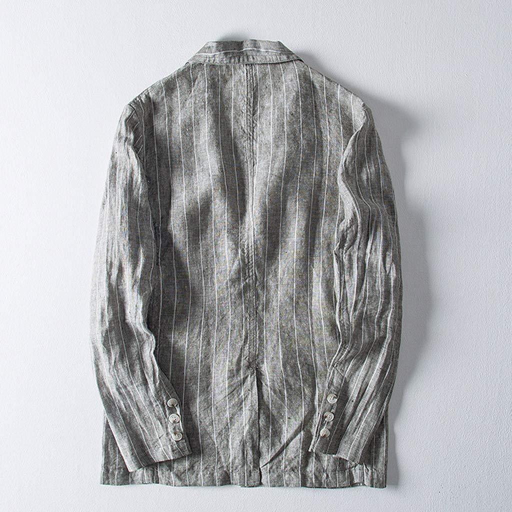 Mens Casual Blazer Yukong Slim Fit Suit Jacket Cotton Blending Coat Button Casual Blazer Jacket