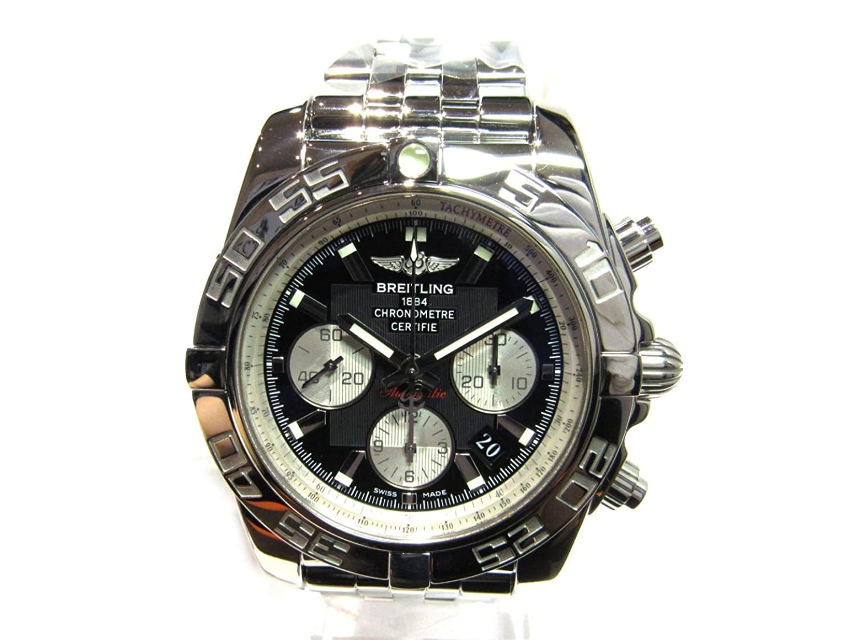 [ブライトリング] BREITLING クロノマット44 腕時計 ウォッチ ネイビー×シルバー ステンレススチール(SS) AB011012/B967 [中古] B07FGVGWCC