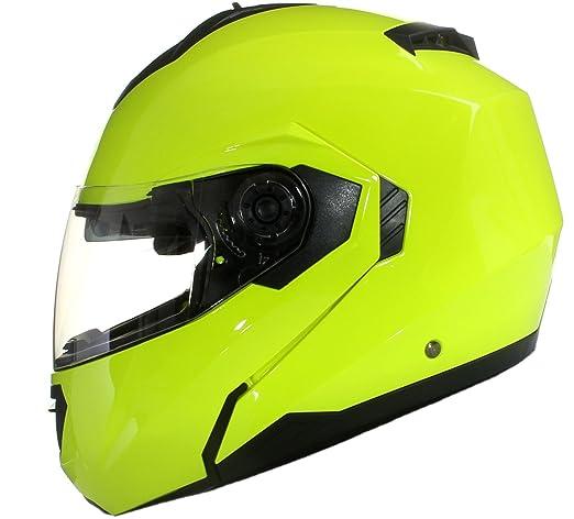 126 opinioni per Casco MODULARE per Moto con Integrale Doppia Visiera- Giallo- S (55-56cm)