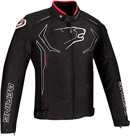 Bering Chaqueta Moto Guardian negro blanco rojo talla S