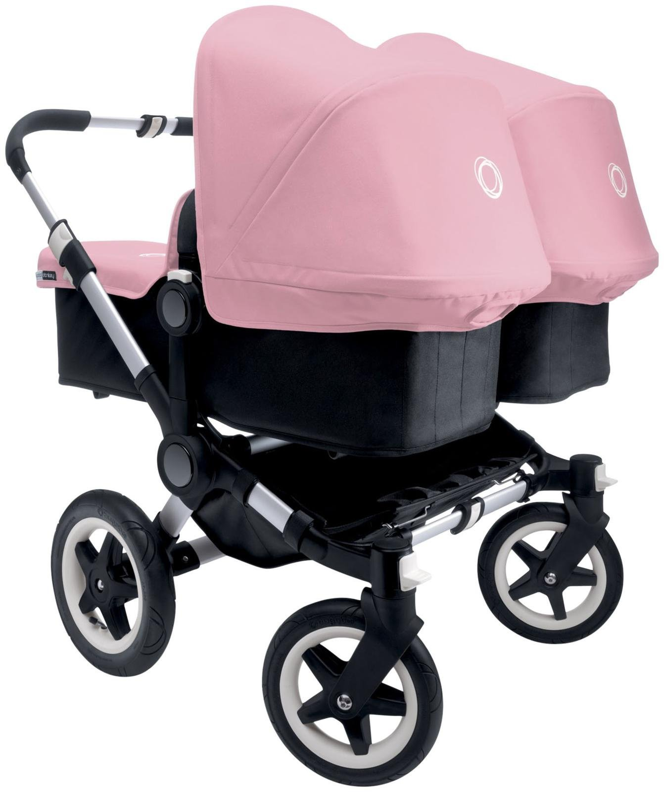 Bugaboo Donkey Complete Twin Stroller - Soft Pink - Aluminum by BUGABOO