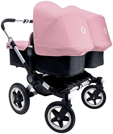 Bugaboo Donkey Complete Twin Stroller Soft Pink Aluminum