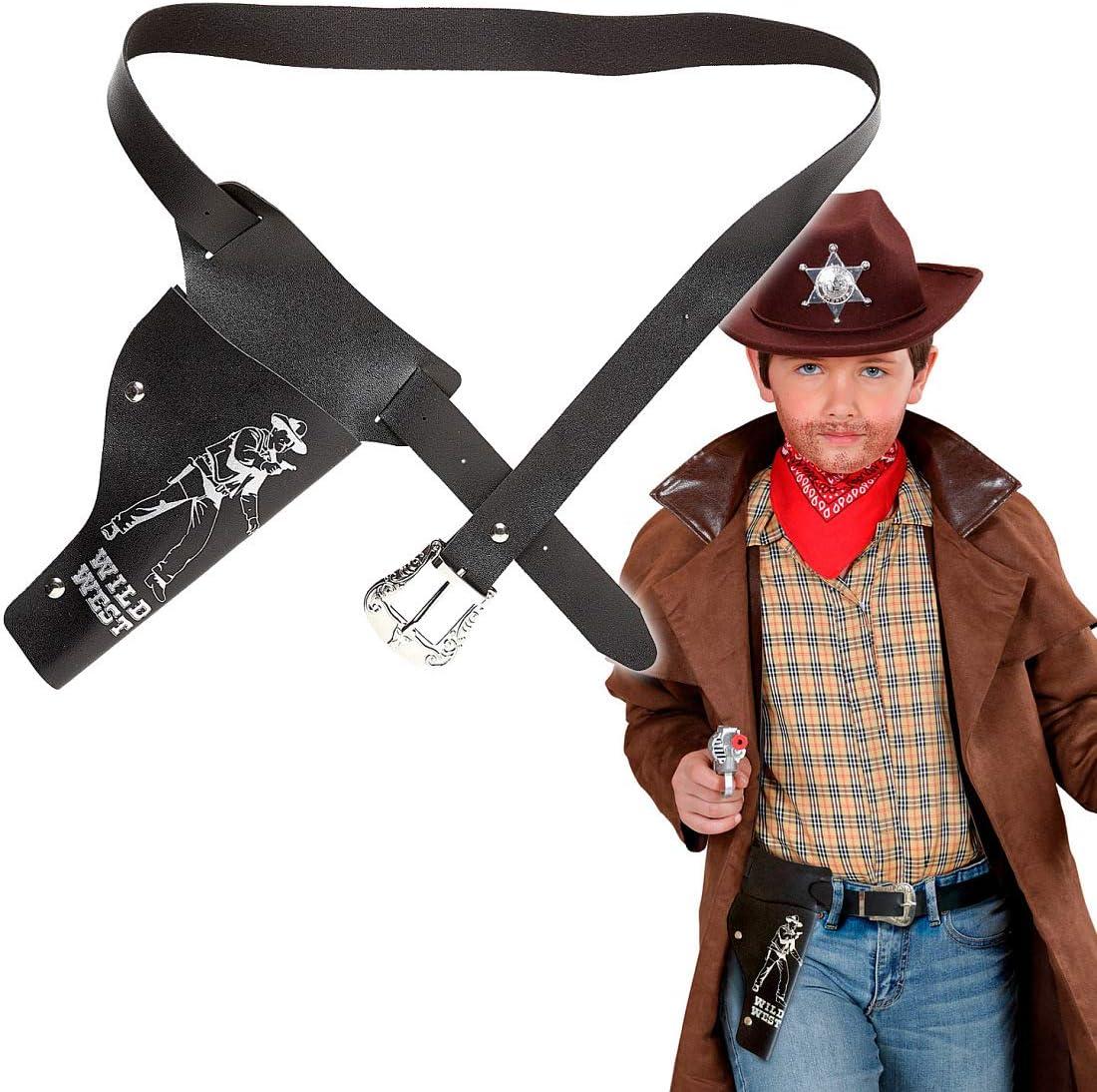 NET TOYS Cinturón de Pistolas Vaquero para niño - Negro ...