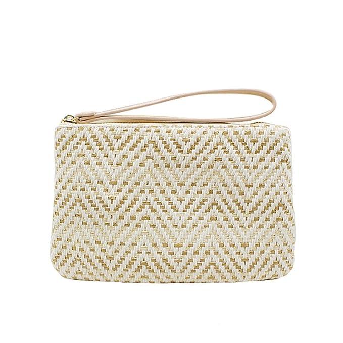 Bolsos De Embrague De Las Mujeres Femeninas Summer Beach Straw Bag Lady Travel Mini Messenger Bags Casual Totalizador De Punto: Amazon.es: Deportes y aire ...
