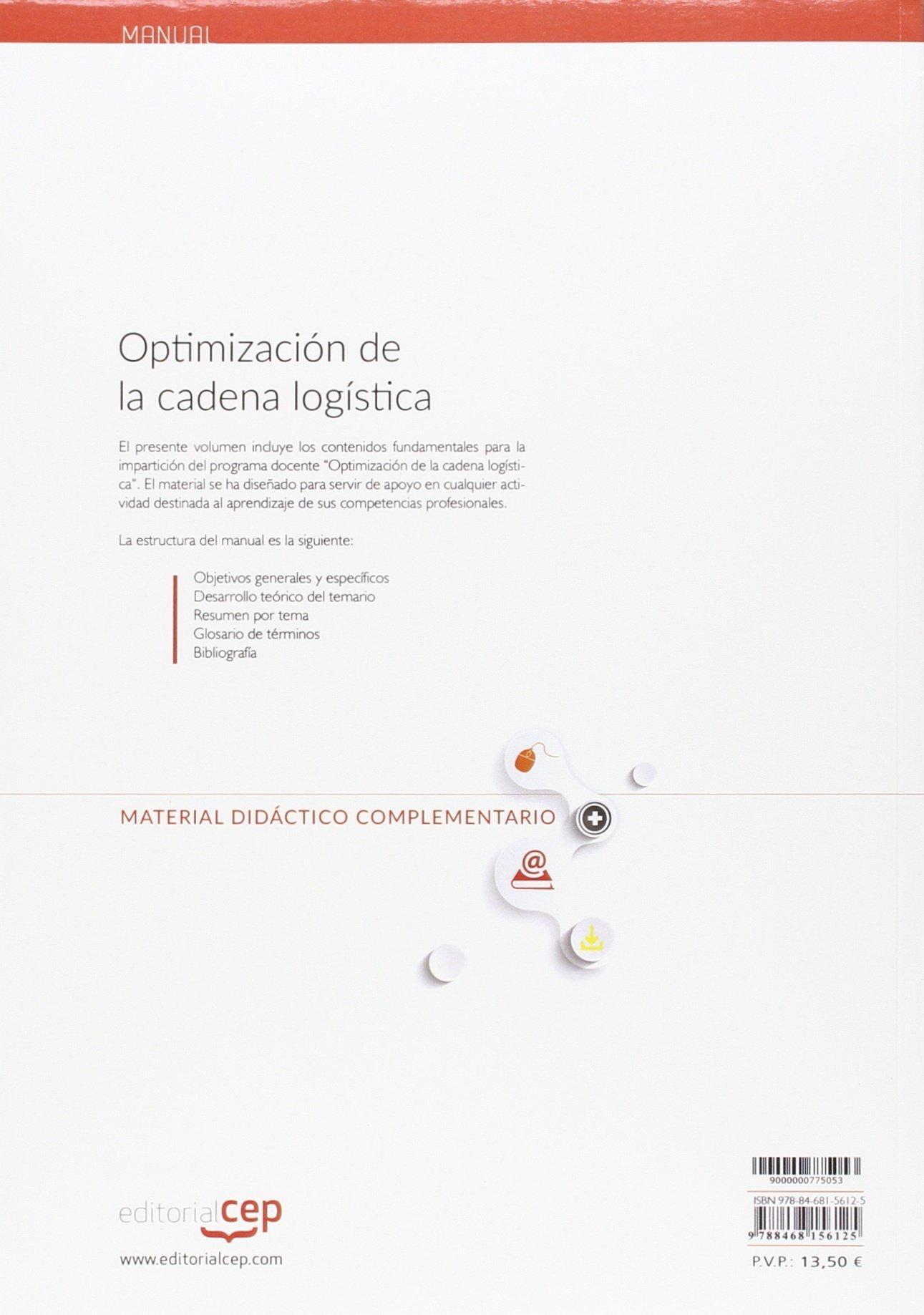 Optimización de la cadena logística. Manual teórico: Amazon.es ...