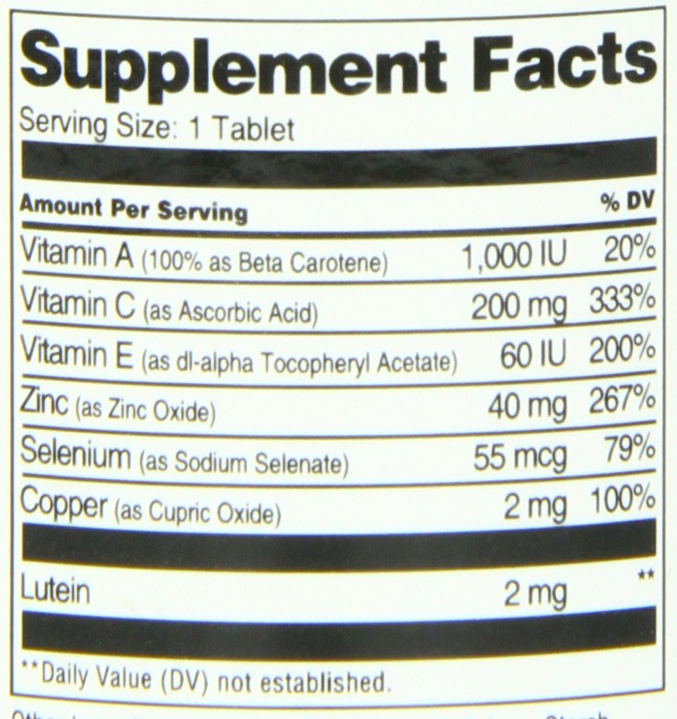 21st Century Healthy Eyes with Lutein Tablets, 60 Count by 21st Century (Image #2)