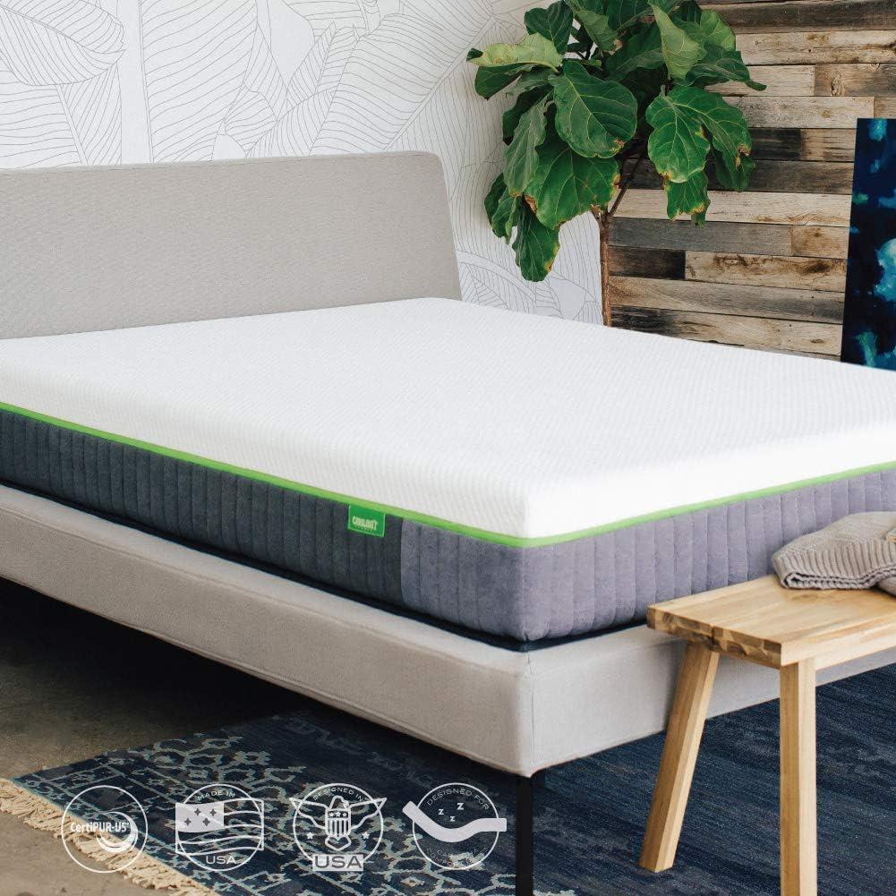 Cariloha Luxury Bamboo Mattress - Advanced Side-Wedge Support Signature Bamboo Comfort Foam - Luxury Memory Foam - Flex Flow Dual Density Base Foam (King)