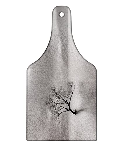 a1bdc14d806bd Amazon.com: Lunarable Tree Cutting Board, Leafless Tree Alone in The ...