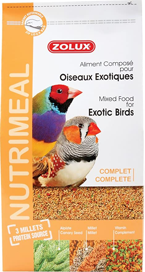 ZOLUX Alimentos Aves exóticas nutrimeal Standard 2,5 kg ...