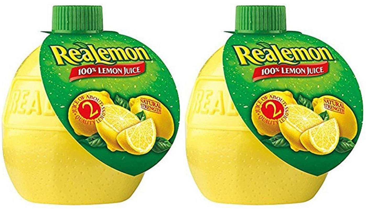 Realemon 100% Lemon Juice, 2.5 oz (Pack of 2)