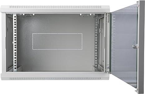 Gabinete mural de red DIGITUS Professional de 12U - 450mm de profundidad - Gabinete mural Dynamic Basic, Color Gris de robusta chapa de acero: Amazon.es: Informática
