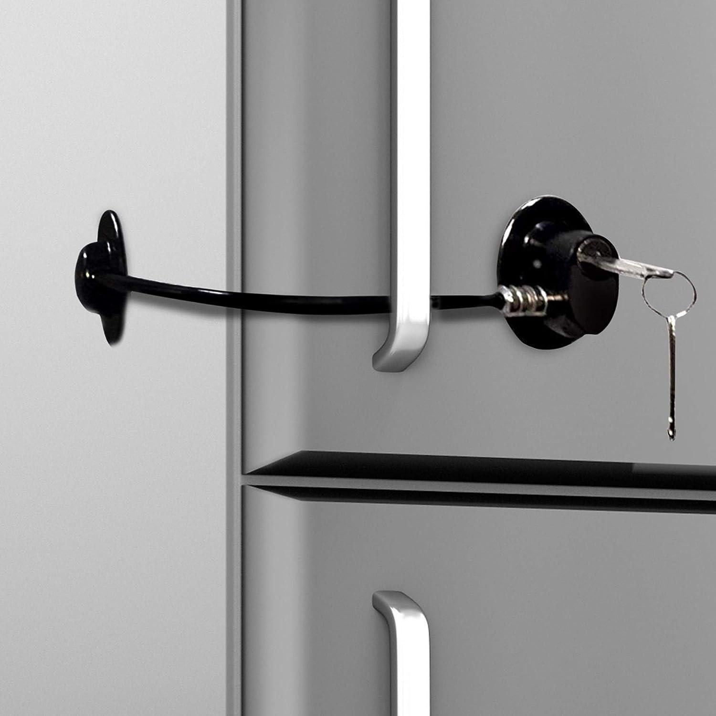 Cerradura de puerta de refrigerador con 2 llaves para seguridad ...