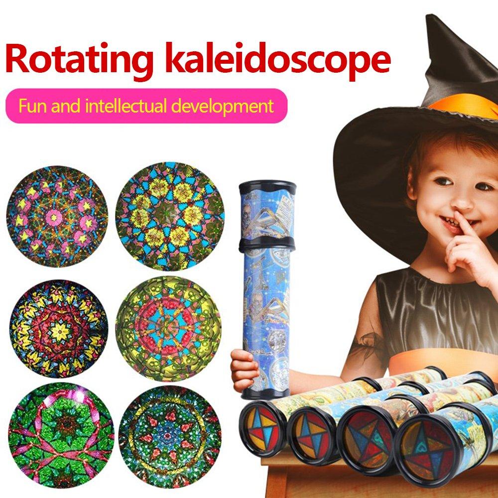 Magic Kaleidoskop Random Farbe Classic drehbar Changeable Interior Kunststoff und Papier Kaleidoskop Best Geburtstag Geschenk f/ür Kinder