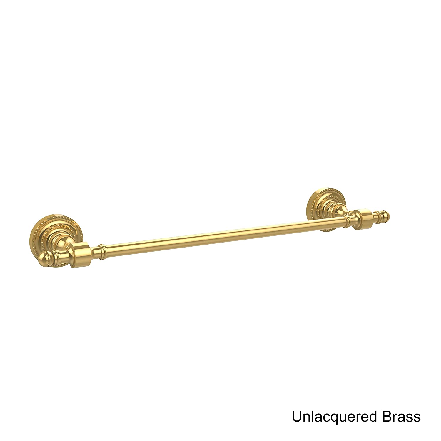 Allied Brass RD-3//18-PB Retro Dot Collection 18 Inch Beaded Refrigerator Pull 18 Polished Brass
