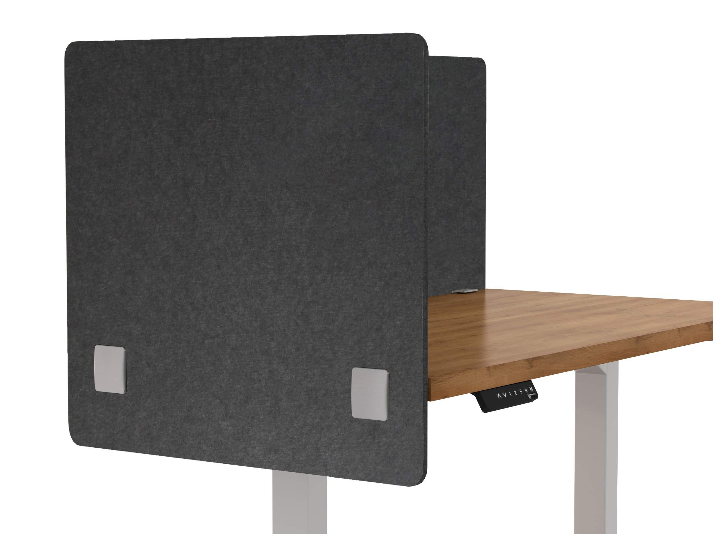 "VaRoom Acoustic Partition, Sound Absorbing Desk Divider – 24"" W x 24""H Privacy Desk Mounted Cubicle Panel, Slate Grey by VaRoom (Image #6)"