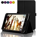 ACdream ASUS MeMO Pad 7 LTE Case, Premium PU Leather Smart Cover Case for AT&T ASUS MeMo Pad 7 LTE GoPhone Prepaid Tablet ME375CL, Black