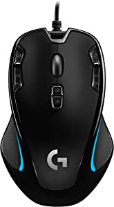 Logitech G300s Optical AmbidextrousGaming Mouse – 9 Programmable Buttons, Onboard Memory