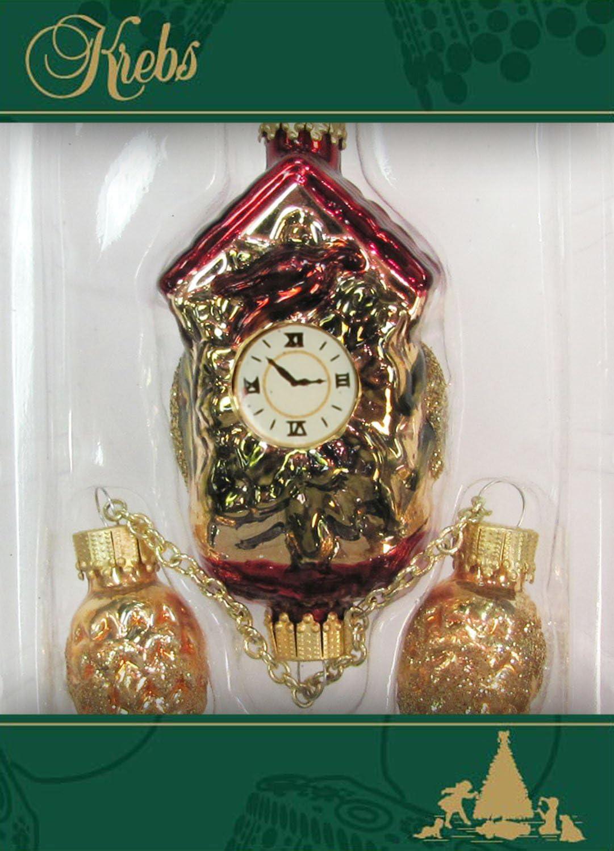 Horloge coucou aufwendig handdekoriert 15 cm