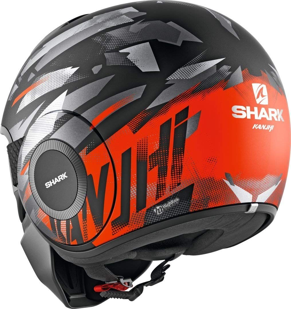 Shark Casque moto STREET DRAK KANHJI MAT KOS Noir//Orange S