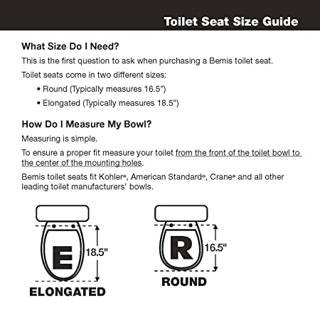 round toilet seat dimensions. Amazon com  Mayfair 66TT 000 Economy Molded Wood Round Toilet Seat Home Improvement