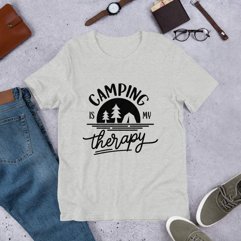 Barking At A Boutique Camping is My Therapy Short-Sleeve Unisex T-Shirt