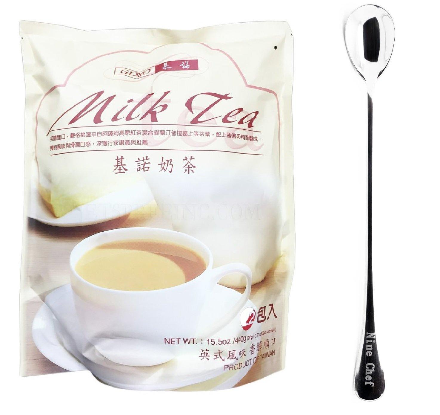 Gino Cafe Milk Tea(5 Bag) + One NineChef Coffee Spoon by Gino