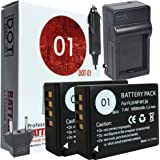 2x DOT-01 Brand 1800 mAh Replacement Fujifilm NP-W126 Batteries and Charger for Fujifilm X-T10 Compact System Digital Camera and Fujifilm NPW126