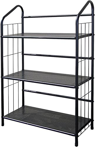 ORE International Metal Book Shelf Bookcase, Black